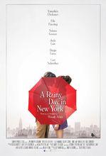 Plakat filmu W deszczowy dzień w Nowym Jorku